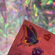 EXCELLENT Condition Vintage 90s Lisa Frank Roses Rainbows Hearts S142 MINT image 3