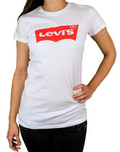 Levi's Women's Premium Classic Graphic Cotton T-Shirt Shirt Tee White size XL