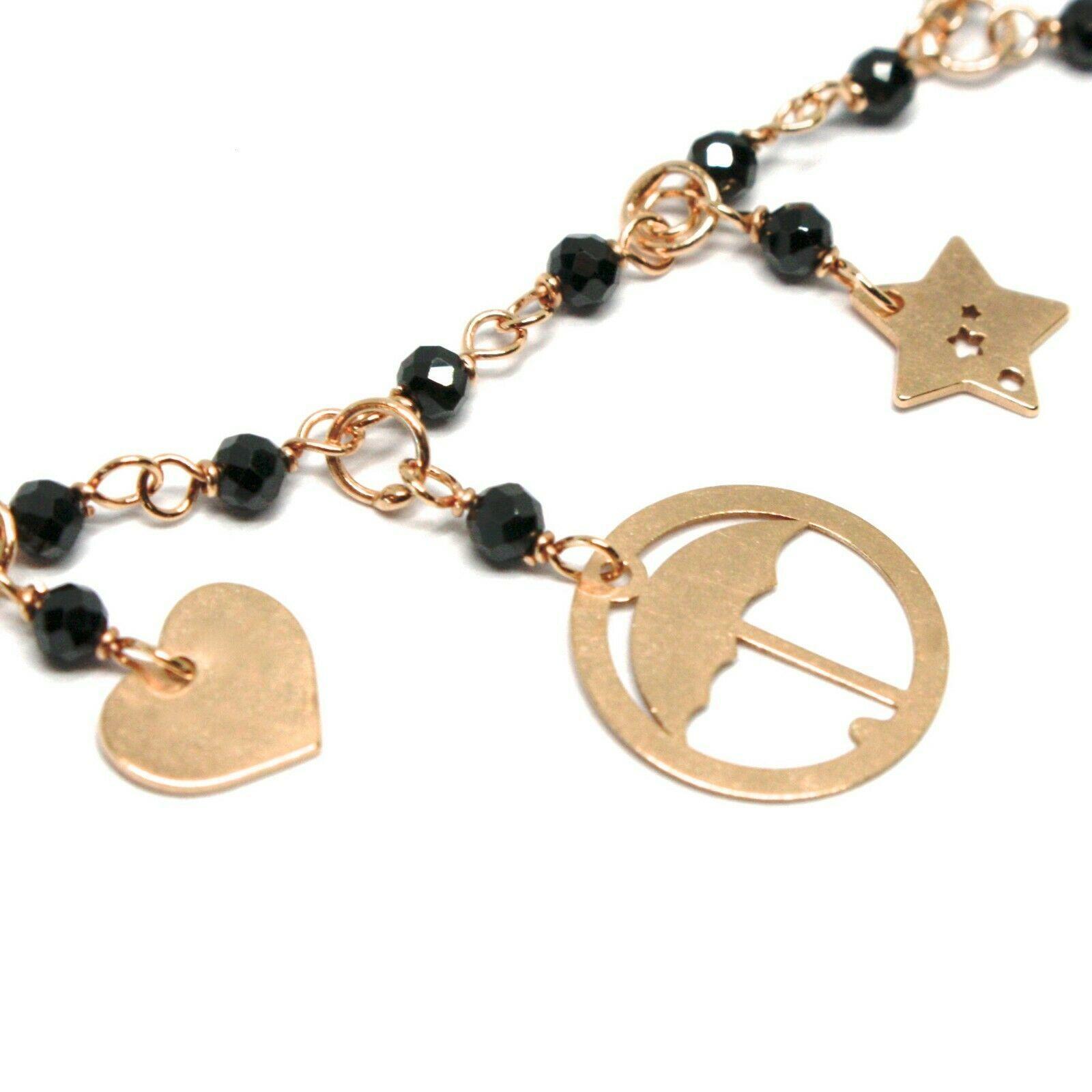 Armband und Anhänger Silber 925, Mary Tasche Regenschirm Hut Sterne, Le Favole image 3