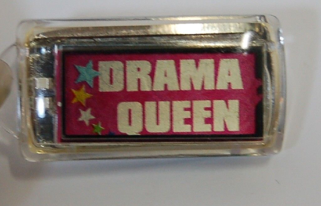 Ganz Solar Powered Flashing Drama Queen Key Chain Stars