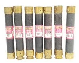 LOT OF 7 COOPER BUSSMANN FRS-R-7 FUSETRON DUAL-ELEMENT FUSES FRSR7, 600V, FRS-7