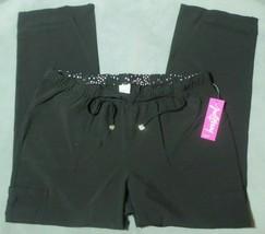 Black HeartSoul Scrubs Charmed Low Rise Drawstring Pants Women XL HS025 BAPS - $29.03