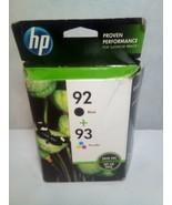 HP 92 Black 93 Tri-color ink - $14.85