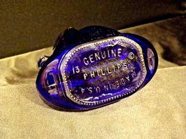Blue Cobalt Blown Glass Genuine 13 Phillips USA AA19-1532 Vintage image 3