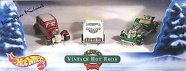 Holiday Gift Pack - Mattel Hot Wheels 3 Pack - Vintage Hot Rods - NIB - $15.43