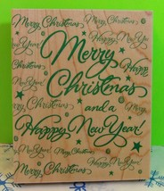 Hero Arts 1997 S1324 Rubber Stamp Super Merry Christmas Greeting - $5.00