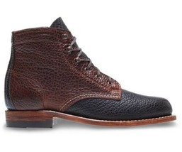 New Handmade Brown & Black Genuine Cow Leather Ankle Boot for Men's - $120.00