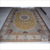 9' x 12' Persian Rugs Tabriz Oriental Pure Silk Rug Carpet Handmade Hand Knotted - $5,500.00