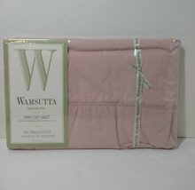 Vtg Wamsutta Supercale Standard Twin Flat Sheet New in Package Pink Solid - $14.50