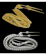 UK ROYAL NAVY AIGUILLETTES GOLD & SILVER. NEW EXCELLENT QUALITY CP MADE - $56.00