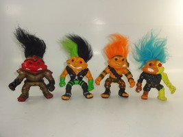"Lot of 4 Hasbro Trolls Trollminator, Orange Sergeant, Sir Knight & Punk 5"" Tall - $21.11"