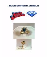 Genuine 14k Gold Blue Topaz and Diamond  Lds Ring-Handmade 1.5cts - $269.95