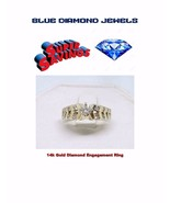 14k Gold  0.75pts Genuine Diamond Engagement Ring Pre-Owned CHEAP! - $895.00