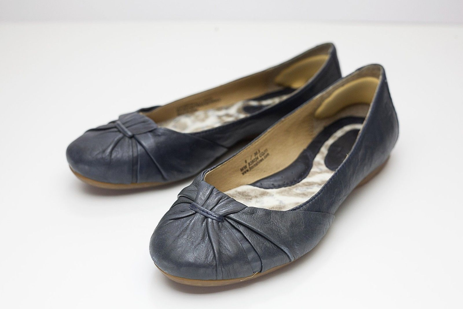 Born 6 Blue Ballet Flats Women's