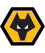 Wolverhampton Wanderers shaped vinyl sticker 90mm x 80mm Wolves - $3.05+