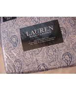 Ralph Lauren Blue and Navy Paisley on White She... - $115.00