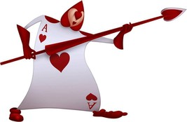 CARD SOLDIER Hearts Alice in Wonderland Disney Decal Removable WALL STICKER - $14.99 - $29.99