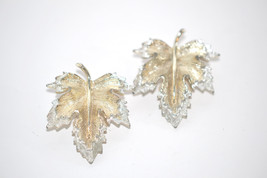 Vintage Signed Sarah Coventry Natures Choice Clip Back Earrings - $8.00