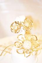 "Vintage Sarah Coventry ""Allusion"" Flower Brooch Earrings Set - $38.00"