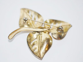 Vintage Signed Coro Gold Plated over Sterling with Pink Rhinestone Brooch image 4