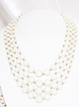 Vintage Four Strand Beaded Necklace - $18.00
