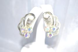Vintage 1960s Era Aurora Borealis Earrings - $6.00