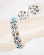 Lisner Vintage Matching Rhinestone Bracelet and Earring Set - $48.00
