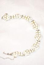 Vintage Signed Coro White Lucite Beads in White Enameled Bracelet - $28.00