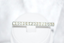 Vintage Signed Castlecliff Sterling Silver Rhinestone Bar Pin - $32.00