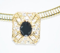 Signed Roman Vintage Gold Tone Rhinestone Choker - $14.00