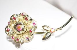 Vintage Sarah Coventry Fashion Flower Brooch - $18.00