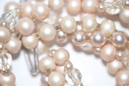 Vintage Dusty Rose Simulated Glass Pearls Twisted Choker Demi - $28.00