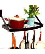 Pan Pot Wall Mount Square Grid Rack Shelf Hook ... - $59.99