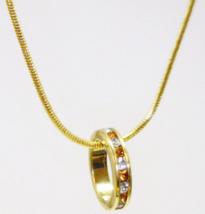 November Birthstone Baby Wheel Necklace (Gold Chain, Dark gold Stones) - $5.99