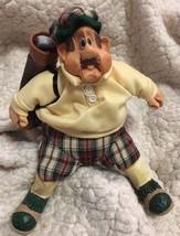 "Golfer ""Stew Mulligan"" #2904 Cloth & Resin 'Russ Berrie' Rare Collectible Cute! - $17.99"