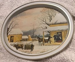 """HOME TO THANKSGIVING"" VINTAGE SERVING TRAY by CURRIER & IVES Iconic Decor - $16.98"