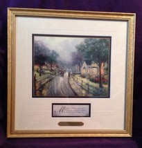THOMAS KINKADE HOMETOWN MEMORIES Print Framed Matted With COA - $79.99