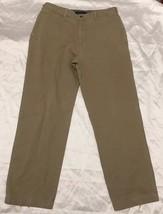 Tommy HilFiger Size 38 X 34 Men's Tan Khaki Casual Pants Flat Front - $16.99