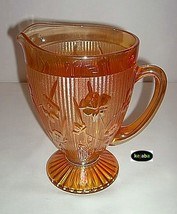 Iris and Herringbone Iridescent Marigold Pitcher Jeannette - $37.50