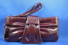 NWT Sondra Roberts Burgundy Ruche Clutch with B... - $25.23