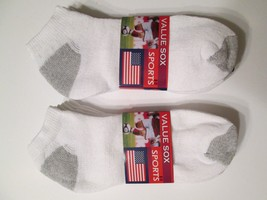 New 6 Pairs White Ankle Quarter Socks Men's Size 9-11 Value Pack - $9.99