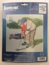 Janlynn Cross Stitch Kit Starting Young Golfer Boy Dad 12x16 #029-0052 - $24.70