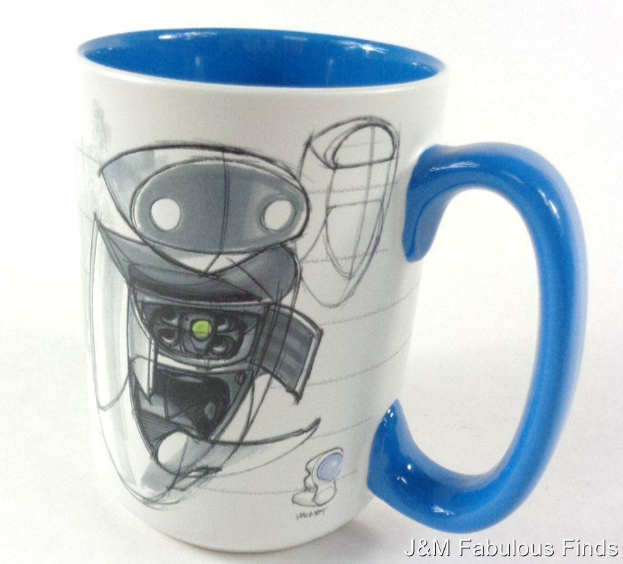 Disney theme parks sketch eve from pixar wall e 15 oz coffee tea mug new mugs glasses - Walle and eve mugs ...