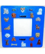 """Blue Puppy Love Wood Picture Frame 3.5"""" x 3.5"""" Photo Tabletop Dog Dogs C... - £2.99 GBP"""