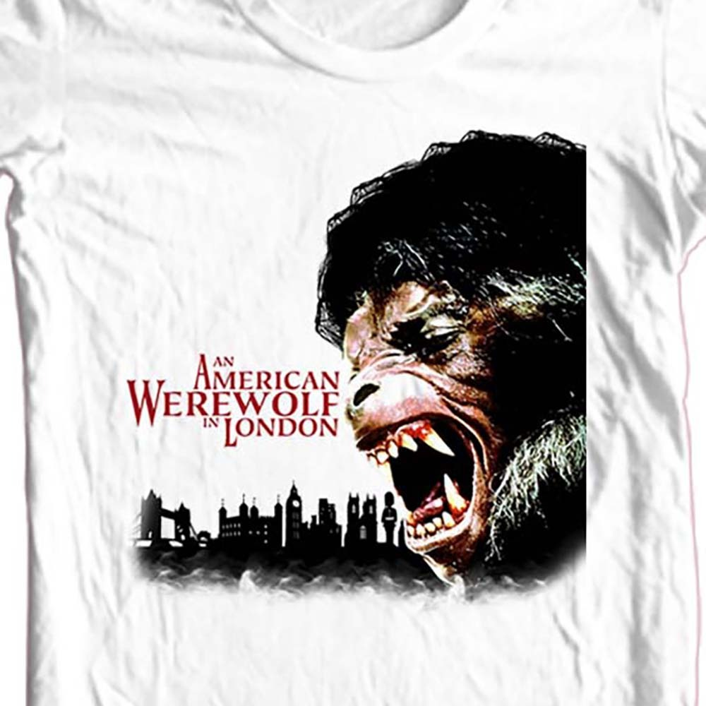 American werewolf in london white t shirt