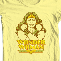 Wonder women retro silver age old style yellow t shirt thumb200