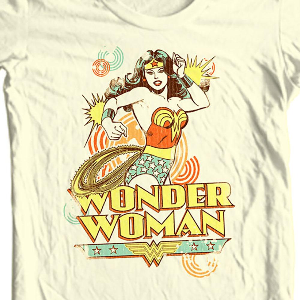 0b97726d Wonder Woman T-shirt golden age old DC comic superhero graphic ...