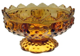 Fenton_amber_glass_hobnail_candle_holder_centerpiece_1_thumb200