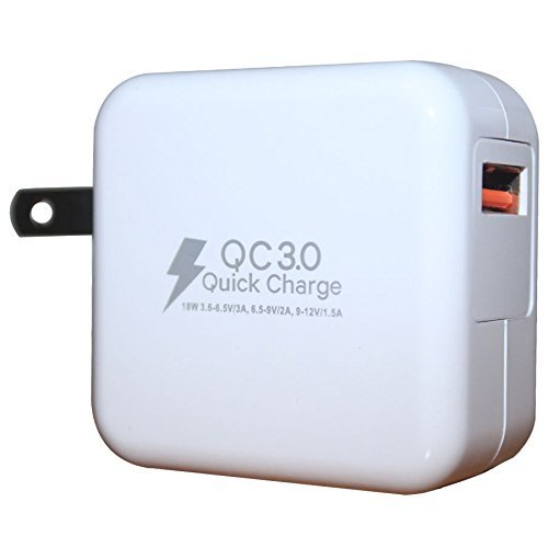 RND QC3.0 Quick Charge compatible USB AC / Wall Charger (QC2.0 Compatible) wi...