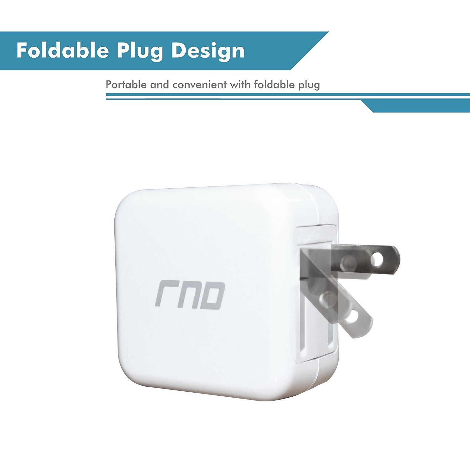 RND QC3.0 Quick Charge compatible USB AC / Wall Charger (QC2.0 Compatible) wi... image 3